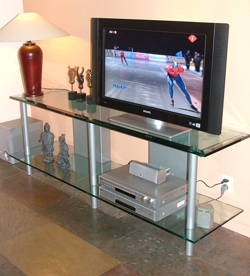 Design Tv Meubel Glas.Design Tv Meubel Met Helder Glas